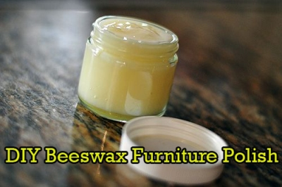 DIY Beeswax Furniture Polish 1