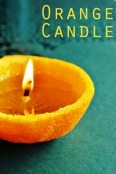 How To Make DIY Orange Candles