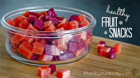 How To Make Homemade Healthy Fruit Snacks - s