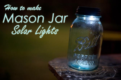 How To Make Mason Jar Solar Lights 1