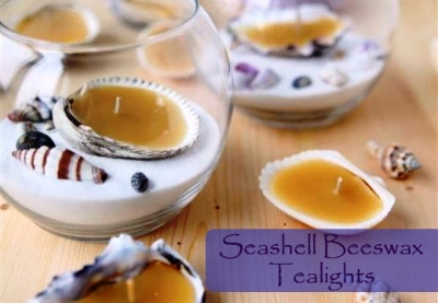 How To Make Seashell Beeswax Tealights 1