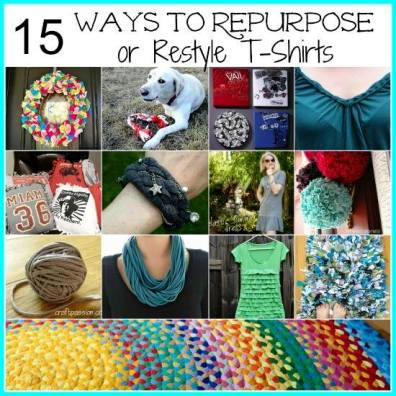 15 Ways To Repurpose Or Restyle T-Shirts 1