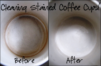 Clean Coffee Stained Cups