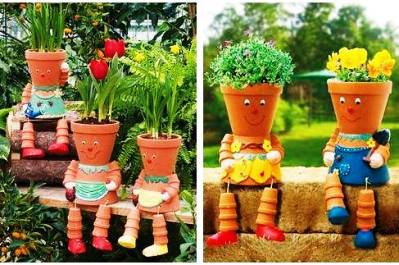 DIY Clay Pot Flower People 1