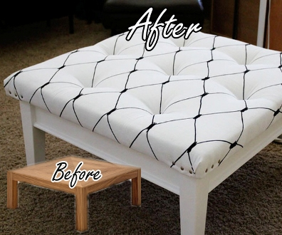 DIY Coffee Table To Ottoman Makeover 1