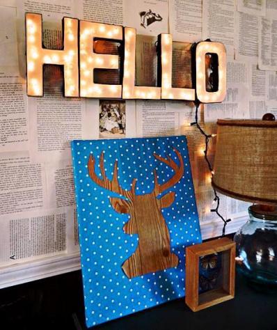 DIY Letter Sign 1
