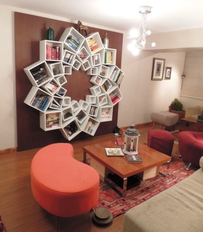 DIY Mandala Pattern Bookshelf 1