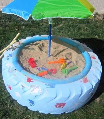 DIY Sandbox Using A Tire 1