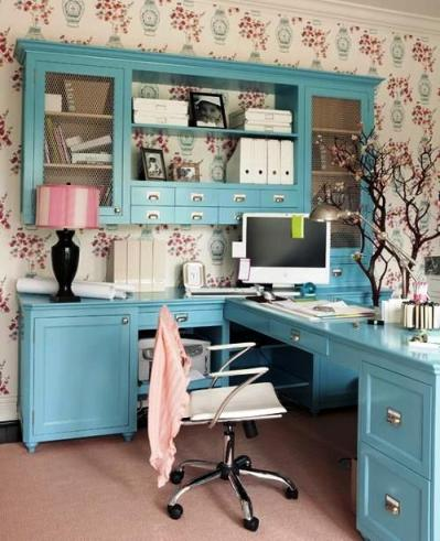 Feminine Home Office Design Ideas 1