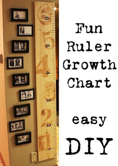 Fun DIY Ruler Growth Chart