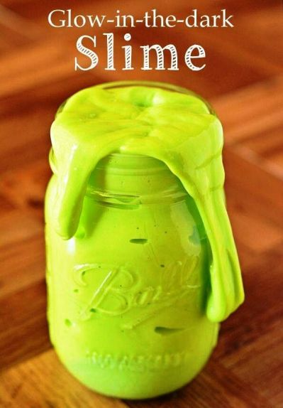 Glow in the dark slime