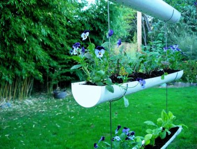 How To Make A Hanging Gutter Garden 1