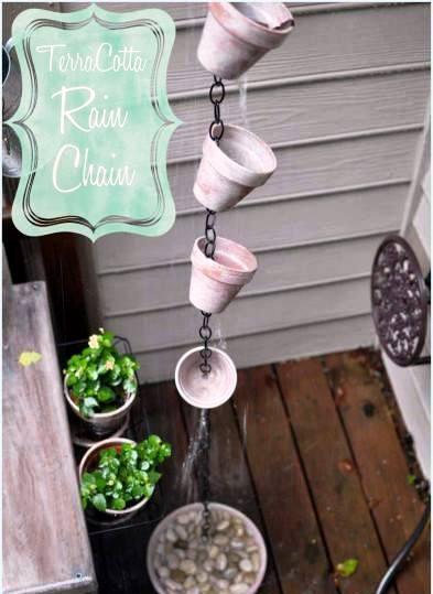 How To Make A Terracotta Rain Chain