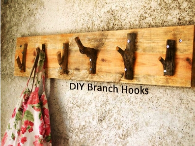 How To Make DIY Branch Hooks 1