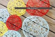 How To Make Yarn Lanterns 1
