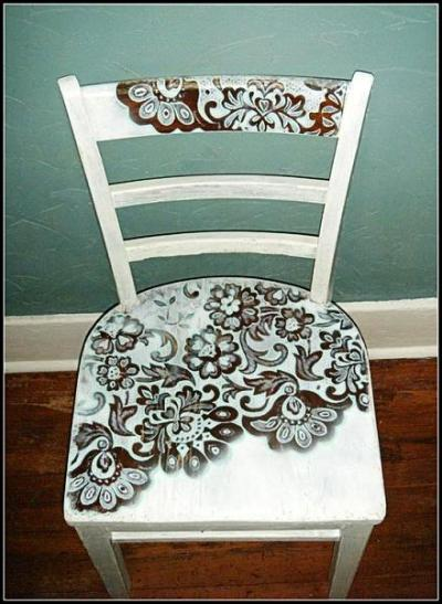 Paint Furniture Through Lace