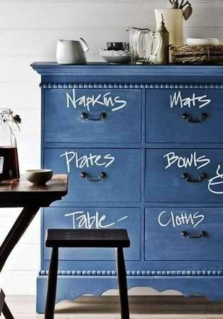 Painted Chalkboard Furniture