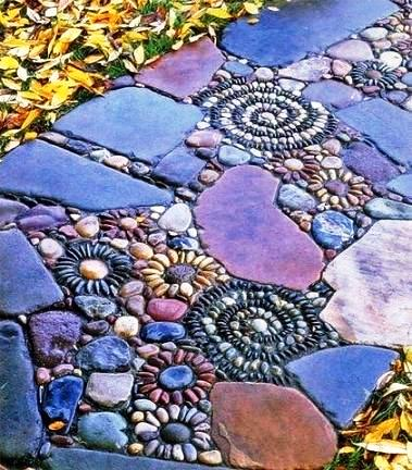 Pebble Mosaic Pathways
