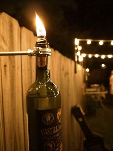 Wine Bottle Tiki Torch 1