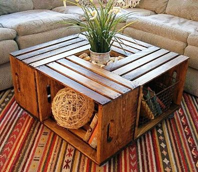 Wine Crate Coffee Table 1