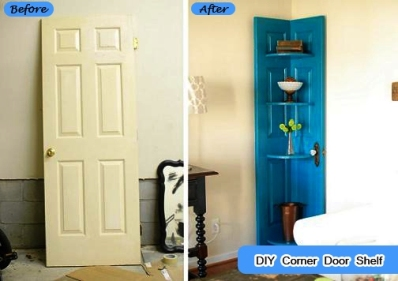 diy corner door shelf 1