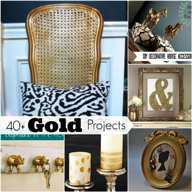 40 Awesome Gold DIY Projects 1