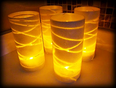 DIY Glass Vase Luminaries
