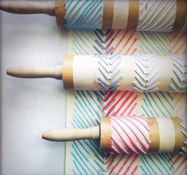 Do-it-Yourself Rolling Pin Geometric Stamps