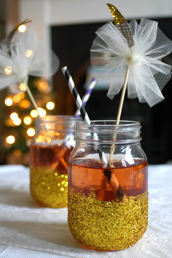 Glitter Jars and Stirrers for Cocktail Parties