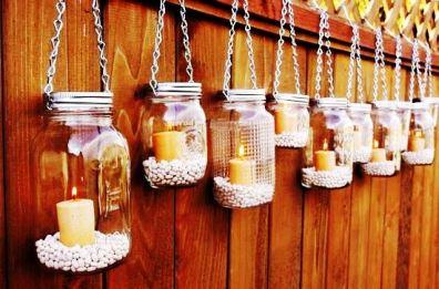 Hanging Mason Jar Lanterns 1