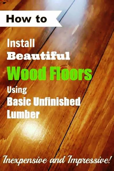 How To Install An Inexpensive Wooden Floor