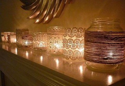 Reuse Summer Jars as Crafty Candle Holders