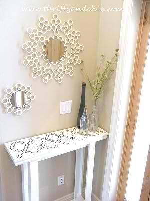 DIY Chic Entry Table