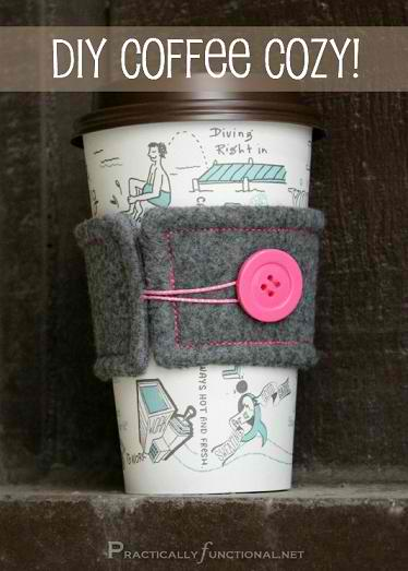 DIY Coffee Cup Sleeve