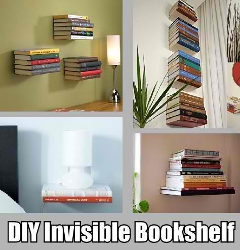 DIY Invisible Bookshelf