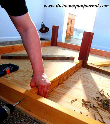 DIY King Sized Platform Bed
