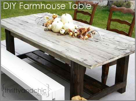 DIY Outdoor Farmhouse Table
