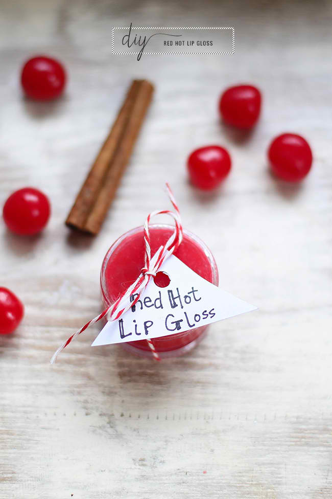 DIY Red Hot Lip Gloss