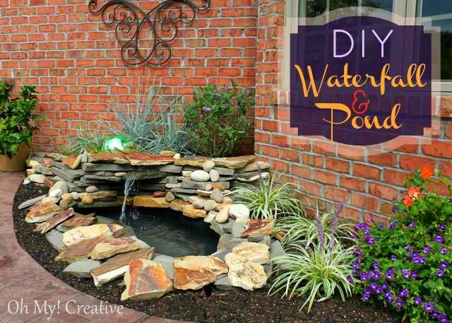 DIY Waterfall and Pond