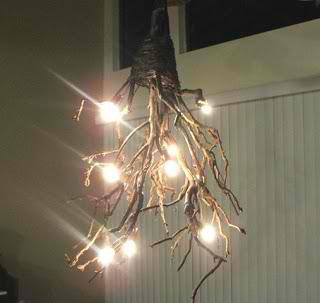 How To Make A Rustic Tree Branch Chandelier