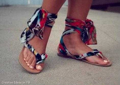 Old Flip Flops Made New