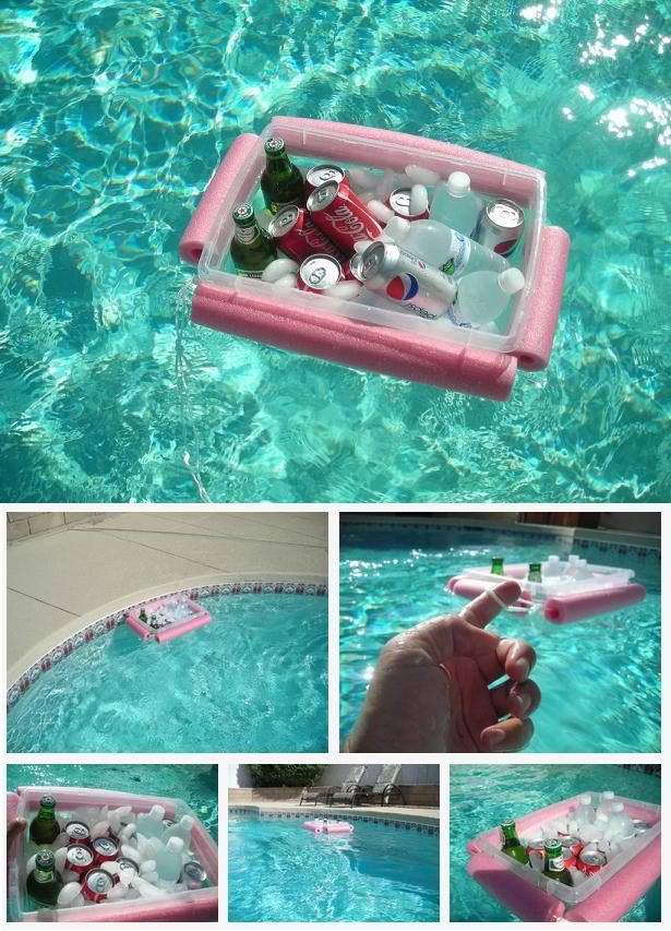 Pool Noodle Floating Drink Cooler