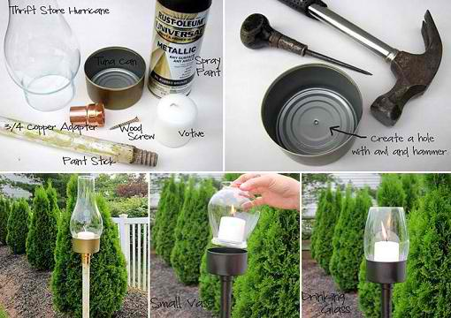 Tuna Can Outdoor Lantern