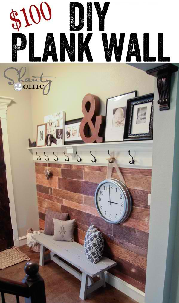 $100 DIY Plank Wall Makeover