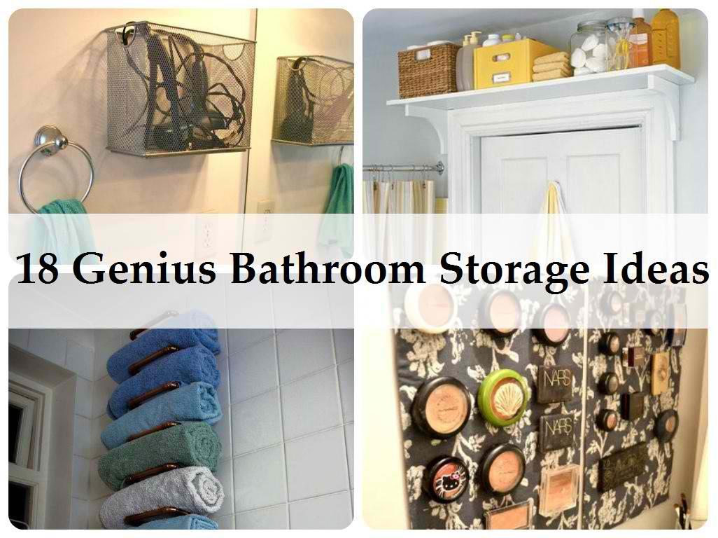 18 Genius Bathroom Storage Tips