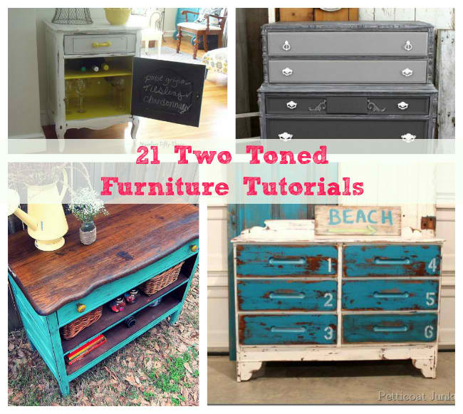 21 Two Toned Furniture Tutorials