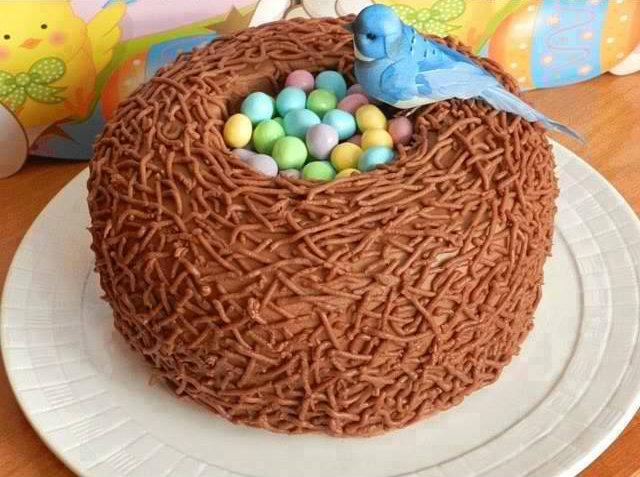 Beautiful Bird Nest Cake Recipe