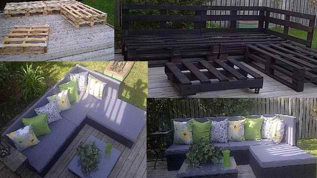 Building A Giant L Shaped Pallet Sofa For The Patio