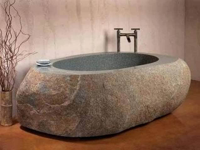 Carve A Stone Bowl for a Bath Tub