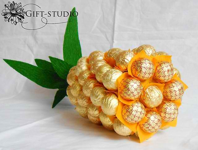 Champagne Bottle Candy Pineapple